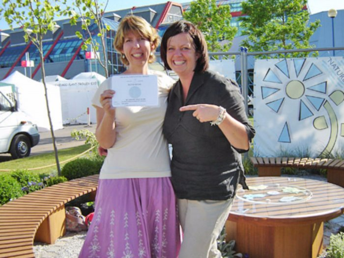 We were delighted to win a Silver medal for our first attempt at a show garden- a steep learning curve!