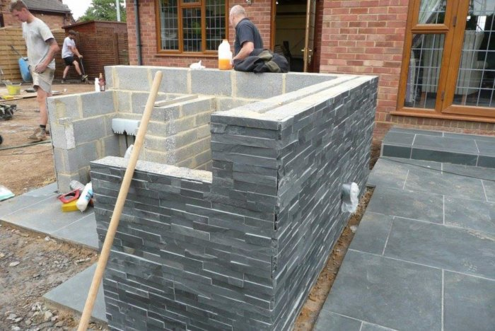 This will be the new bespoke outdoor kitchen area.