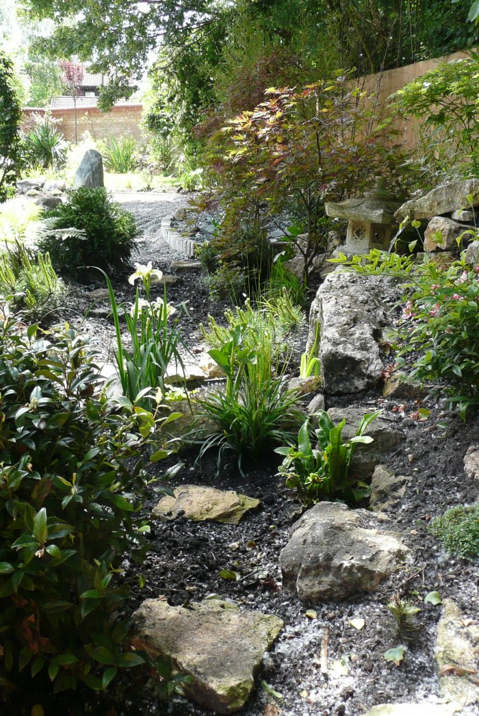 Some of the plants for this garden came from a specialist grower and even just after planting it looked as if it had always been there.