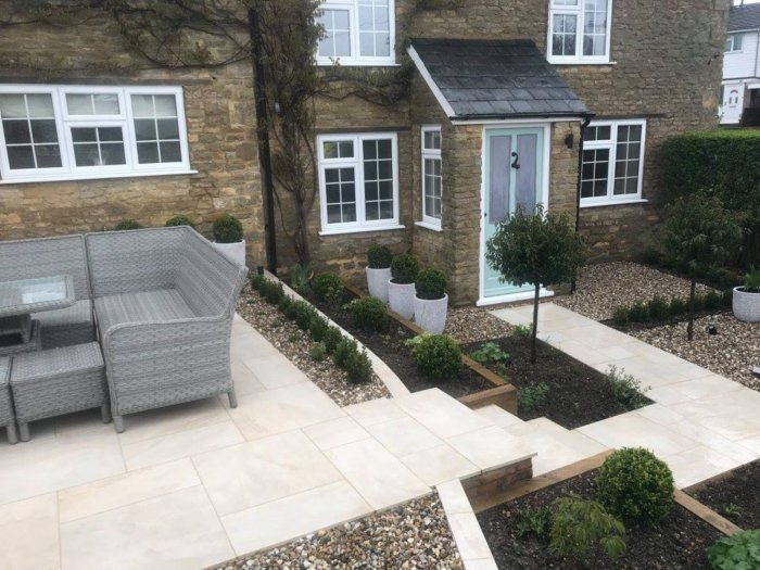 The levels mean the garden can be easily navigated both across the space and that there is a far clearer path to the front door.