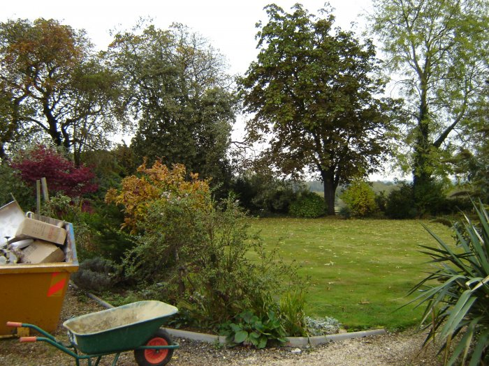 Knowing how much my clients love their garden this large lawn area was to become a new formal garden.