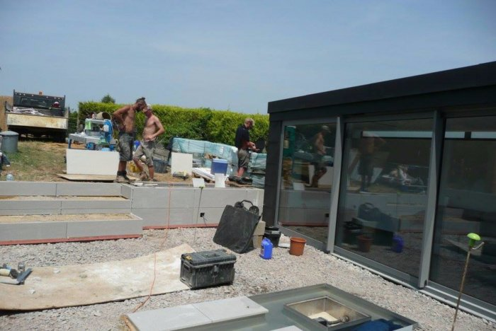 It was a very hot days on site at times.