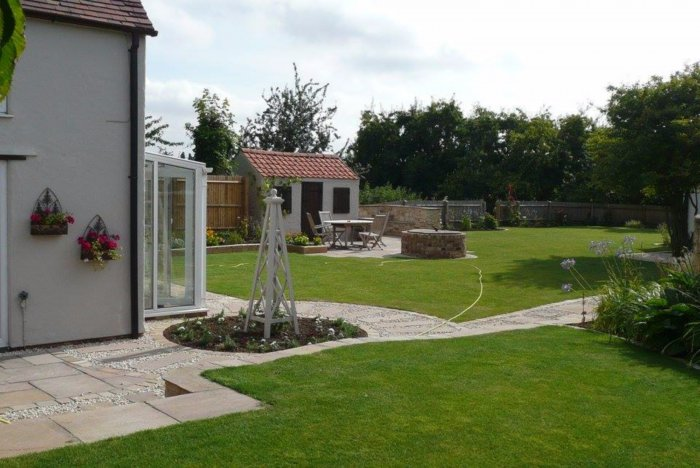 A new view across the garden showing how the lawn and planting areas flow...