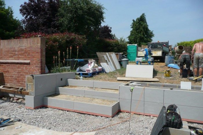 The upper garden will be fairly simple and soft to allow a route to the end and side gate.